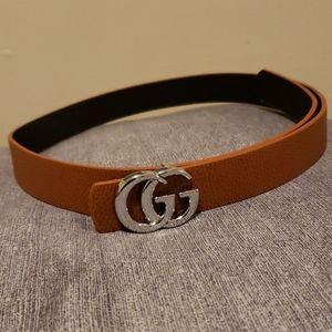 Accessories - Gg light brown belt